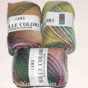 Mille Colori Socks & Lace Luxe Grün-Rosa-Lila