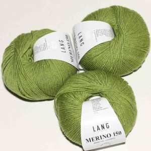 Hell Olive melange Merino 150