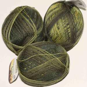 Lungauer Sockenwolle Seide 411x20 Olive