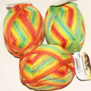 Lungauer Sockenwolle Seide 413x20 Bunt