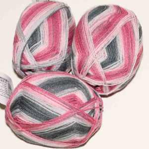 Lungauer Sockenwolle Seide 417x20 Rosa-Grau