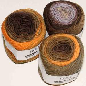 Merino 150 Dégradé Orange-Braun-Grau