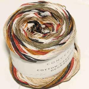 Cotton-Cashmere Degradé Beige-Braun-Rostrot