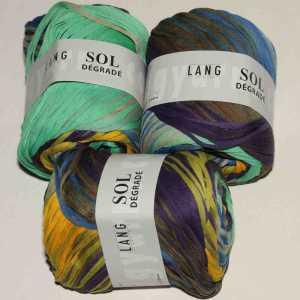 Sol Dégradé Salbei-Gelb-Blau-Mint