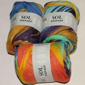 Sol Dégradé Mint-Orange-Blau-Violett