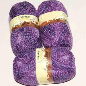 Lungauer Sockenwolle 4fach mit Baumwolle 409-20 Lila-Violett
