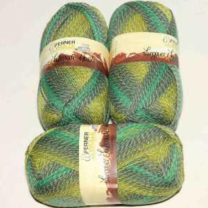 Lungauer Sockenwolle 4fach mit Baumwolle 406-20 Grün