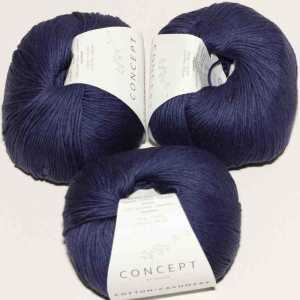 Cotton Cashmere Blau