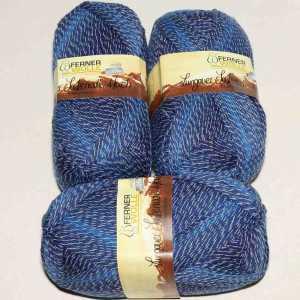 Lungauer Sockenwolle 4fach mit Baumwolle 405-20 Blau
