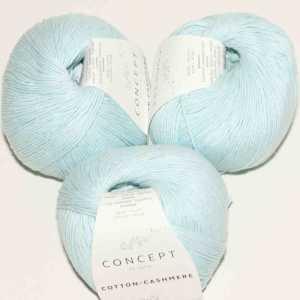 Cotton Cashmere Wasserblau