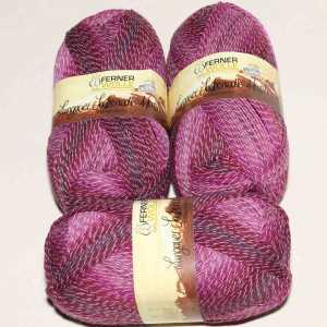 Lungauer Sockenwolle 4fach mit Baumwolle 407-20 Beere