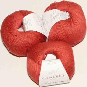 Cotton Cashmere Rostrot