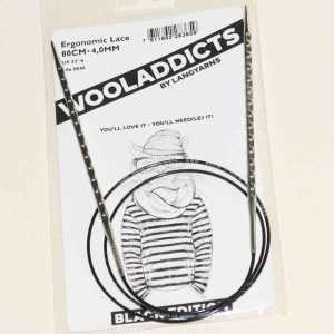 Stricknadeln addiNovel Nr. 4 Seil mit 80cm - Black Edition Wooladdicts
