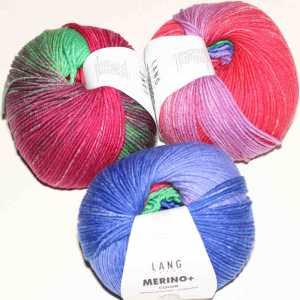 Merino+ Color Blau-Pink-Rot