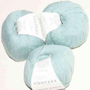 Cotton-Alpaca Wasserblau