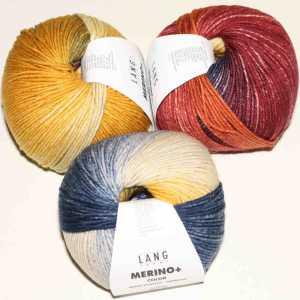 Merino+ Color Blau-Orange-Ziegel