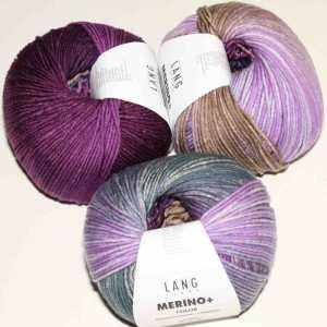 Merino+ Color Lila-Bordeaux-Violett