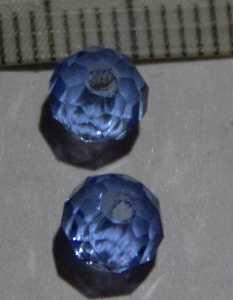 Glasperle Aquamarin geschliffen 6mm