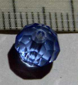 Glasperle Aquamarin geschliffen 8mm